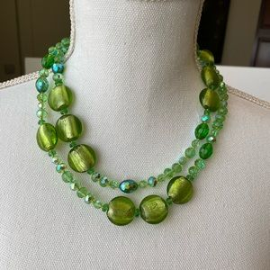 💚💚Green and blue Hughes necklace 💚💚
